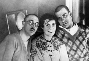 Осип Брик, Лиля Брик, Владимир Маяковский. 1928 г.