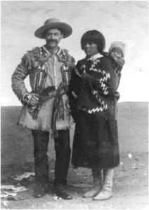 Семья Бибо со своим первенцем