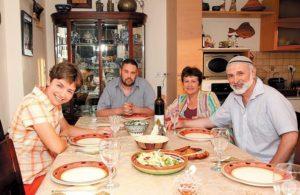 Дина Рубина с мужем и детьми