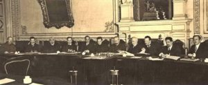 Заседание Временного правительства в Мариинском дворце. Март 1917 г.