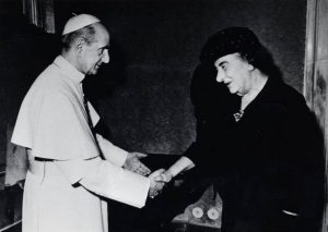 С Папой Римским Павлом VI, 1973 года