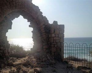 Вид из окна макама аль-Хидр на Средиземное море