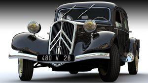 Citroёn Traction Avant — один из первых в мире серийных переднеприводных автомобилей с несущим кузовом