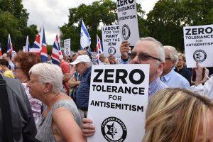 Британские евреи протестуют против антисемитизма лейбористов