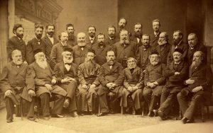 Участники учредительной конференции «Ховевей Цион» в Катовицах, 1884 год