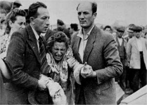 Во время антисемитских выступлений 4-7 сентября 1945 года