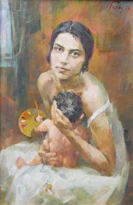 Автопортрет с мамочкой
