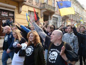 Марш памяти бойцов дивизии СС «Галичина» во Львове