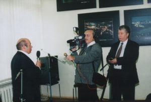 Симон Бурд и Михаил Френкель берут интервью у Натана Щаранского для программы «Яхад»