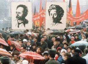 Митинг в честь памяти Розы Люксембург и Карла Либкнехта
