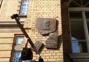 Стоп-кадр видео с персональной страницы Станисловаса Томаса в сети Facebook
