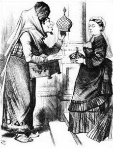 «Меняю старую корону на новую» — Дизраэли подносит королеве Виктории корону Индийской империи