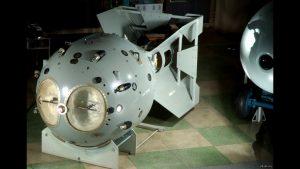 Макет первой атомной бомбы РДС-1 в Музее ядерного оружия в Сарове