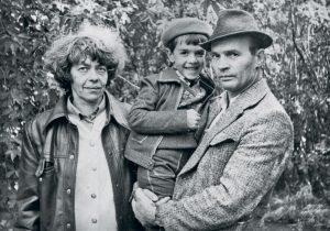 Лариса Богораз и Анатолий Марченко с сыном Павлом. Иркутск, 1978 г.