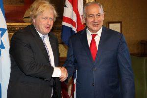 Борис Джонсон и израильский премьер Биньямин Нетаниягу нашли общий язык