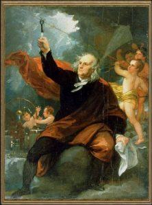«Бенджамин Франклин, притягивающий электричество с небес», худ. Б.Уэст