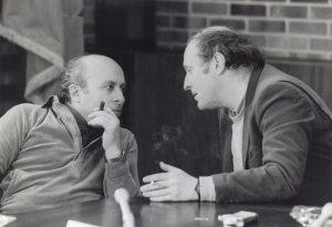 Юз Алешковский и Иосиф Бродский на писательской конференции. США, 1980-е