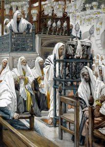 Дж. Тиссо. «Иисус читает Тору в синагоге», 1886-1894