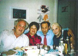 Слева направо: Натан Эйдельман, его жена Юлия, Семен Резник, Надежда Порудоминская