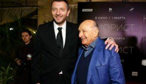 С Михаилом Жванецким на премьере фильма
