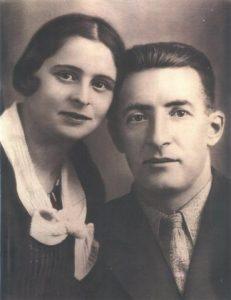 С женой Леей. 1934 г