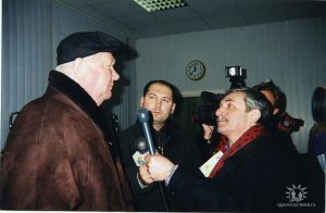 Во время интервью с Валерием Лобановским