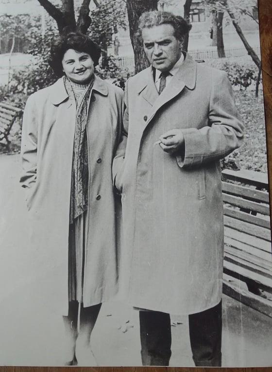 С женой Ивой, начало 60-х
