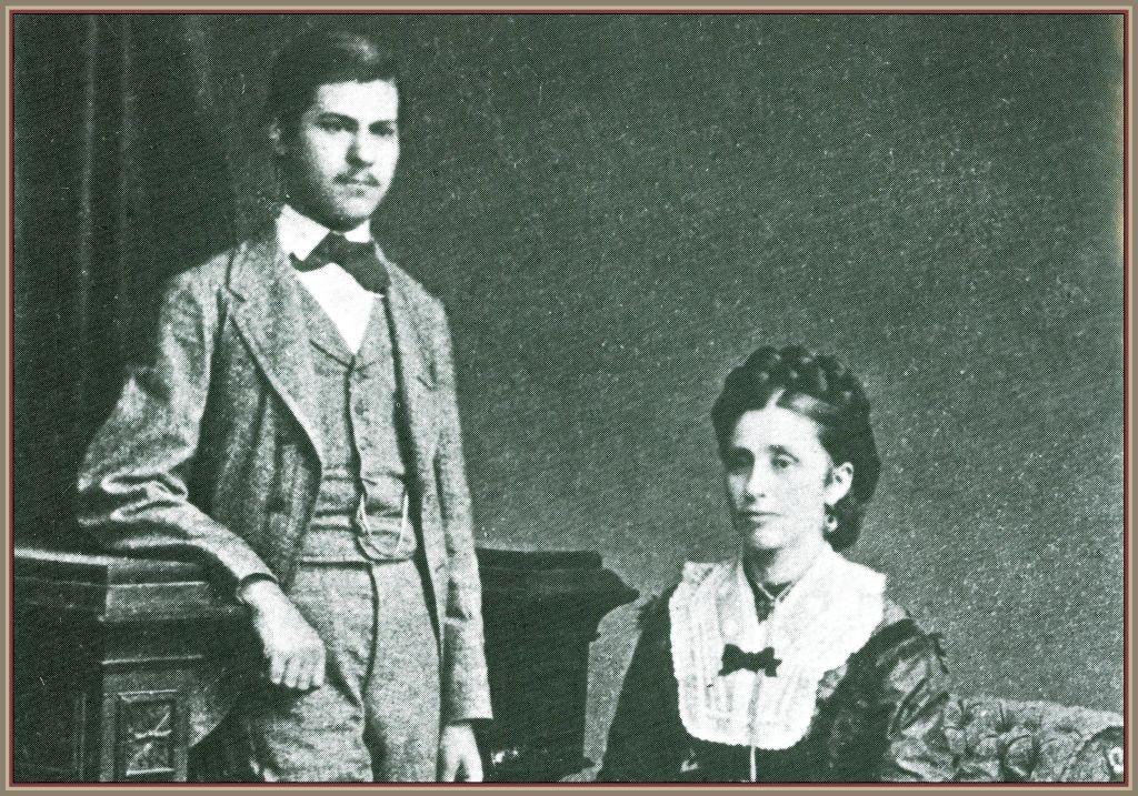 Фрейд с матерью Амалией, 1872 год