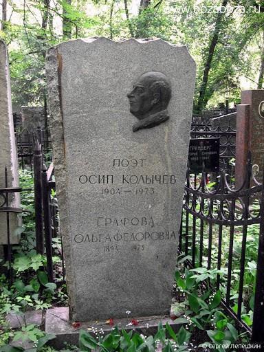 Могила Осипа Колычева на Востряковском кладбище