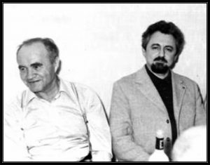 Давид Азбель и Саня Липавский (справа)