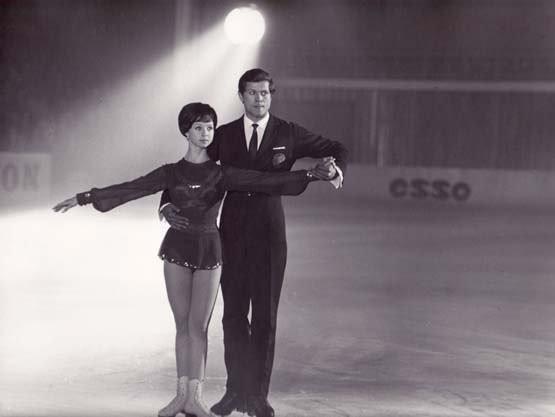 Александр Горелик с Натальей Седых в фильме «Голубой лед», 1969 год