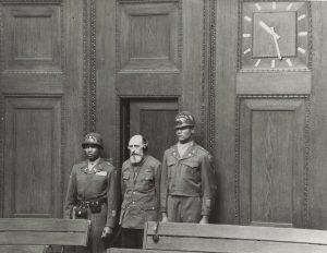 Пауль Блобель заслуховує вирок на Нюрнберзькому процесі про айнзацгрупи, 1948 р.
