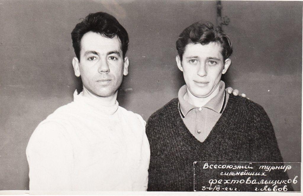 Еврейские мушкетеры, олимпийские чемпионы Григорий Крисс и Марк Мидлер (слева)