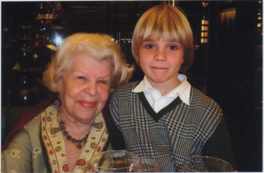 Елена Федоровна Рыбина-Косова с внуком
